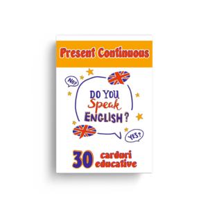 "Set de cartonașe ""Present Continuous"""