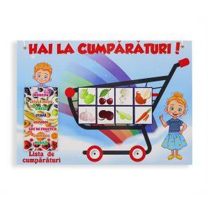 panou magnetic, panou educativ, legume si fructe, cumparaturi