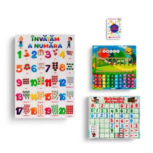 Set de jucarii cu litere, cifre si matematica Educards