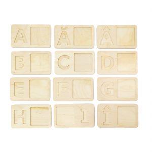 alfabet, planșe din lemn, invatam alfabetul, litere, lemn
